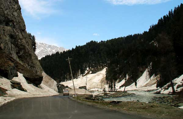 A view of Soanmarg in Grandbal district of Jammu and Kashmir on May 15, 2014.