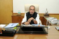 Radha Mohan Singh taking charge as the Union Minister for Agriculture, in New Delhi on May 28, 2014.