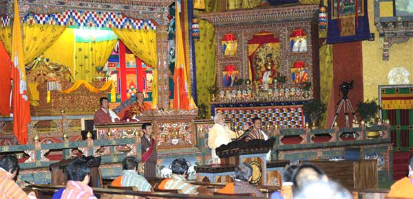 The Prime Minister, Narendra Modi addressing the Joint Session of the Parliament of Bhutan, in Thimphu, Bhutan on June 16, 2014.