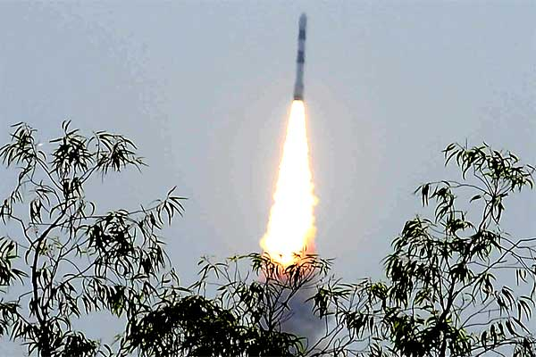 PSLV-C23, successfully launched from Satish Dhawan Space Centre (SDSC), SHAR, at Sriharikota, in Andhra Pradesh on June 30, 2014.