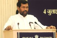 The Union Minister for Consumer Affairs, Food and Public Distribution, Ramvilas Paswan addressing the State Food Ministers Conference