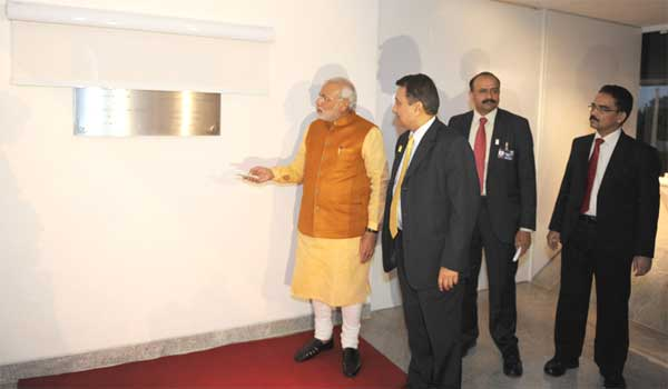 The Prime Minister, Narendra Modi inaugurating the New Chancery Building of the Indian Embassy, at Brasilia, in Brazil on July 16, 2014.