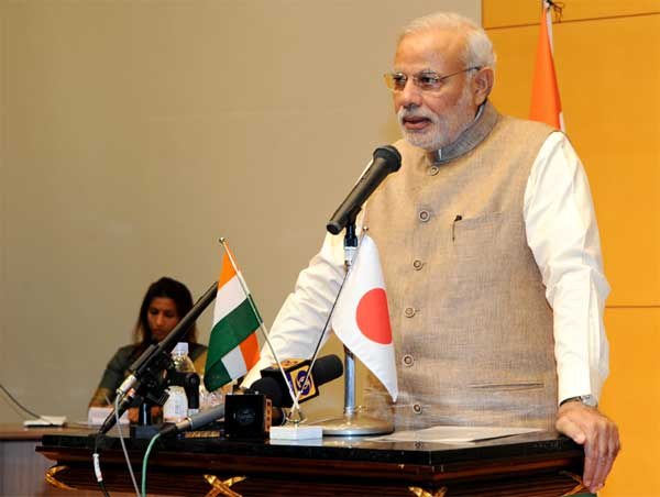 The Prime Minister, Narendra Modi delivering the address at the University of Sacred Heart, in Tokyo, Japan on September 02, 2014.