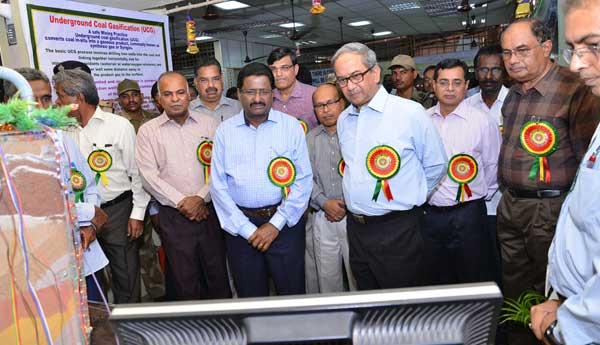 B.Surender Mohan, CMD,NLC along with Rahul Guha, Director General of Mines Safety, Dhanbad inspecting a stall put up on the occasion of Safety Week Celebrations at Neyveli. Also, seen are (From Left to right)- S.Boopathy, Director(Projects & Planning), M.S. Ravindranath, Chairman, Tamil Nadu Mines Safety Association, Rakesh Kumar, Director(Finance),  P. K. Sarkar, Dy. Director General Mines Safety (Southern Zone), Megharaj, Director Mines Safety ( Chennai Region), S. Rajagopal, Director(Power& Mines).