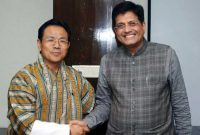 The Minister of Economic Affairs, Bhutan, Norbu Wangchuk meeting the MoS (IC) for Power, Coal and New and Renewable Energy, Piyush Goyal