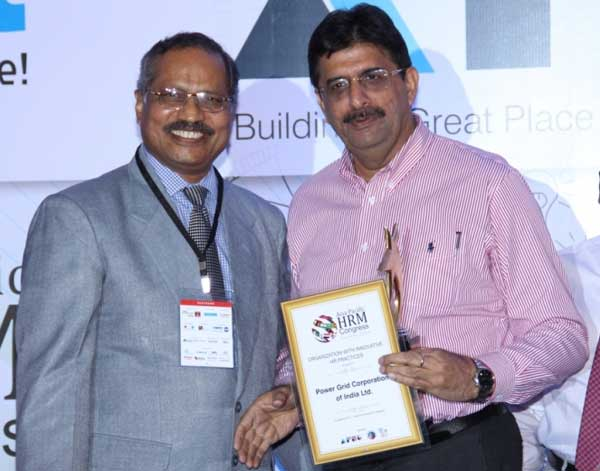 """POWERGRID has been conferred with """"Organization with Innovative HR Practices Award"""" for outstanding achievements and excellence in the field of Human Resources at Asia Pacific HRM Congress Awards 2014. The award was received by Anil Saberwal, GM (HRD) on behalf of POWERGRID at the Asia Pacific HRM Congress 2014 in Bangalore."""