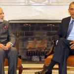 The Prime Minister, Narendra Modi in a bilateral meeting with the US President, Barack Obama, at the White House, in Washington DC on September 30, 2014.