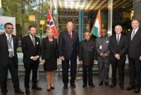 The President, Pranab Mukherjee at the Joint Seminar on Business, Science and Technology, at Oslo, in Norway on October 14, 2014.