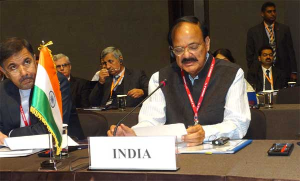 The Union Minister for Urban Development, Housing and Urban Poverty Alleviation and Parliamentary Affairs, M. Venkaiah Naidu at the Plenary of APMCHUD Conference, at Seoul, in South Korea on November 03, 2014.