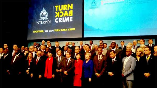 The Home Minister, Rajnath Singh along with the other participants at the 83rd General Assembly of Interpol, in Monaco on November 04, 2014.