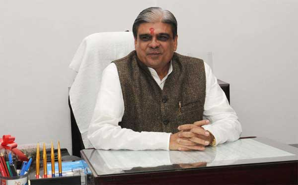 Haribhai Parthibhai Chaudhary taking charge as the Minister of State for Home Affairs, in New Delhi on November 11, 2014.