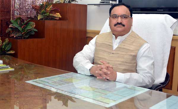 Jagat Prakash Nadda takes charge as the Union Minister for Health and Family Welfare, in New Delhi on November 10, 2014.