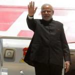 The Prime Minister, Narendra Modi departing from Canberra, Australia on November 18, 2014.