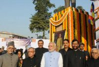 Dignitaries paid tributes to the Bodhisatva Babasaheb Dr. B.R. Ambedkar on his 59th Mahaparinirvan Diwas.