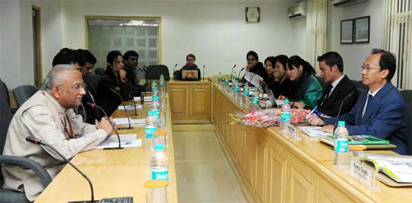 A Delegation from Bhutan calls on the Special Secretary, (Rural Development), S.M. Vijayanand, in New Delhi on December 11, 2014.