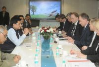 The State Minister of Economy, Poland, Jerzy Witold Pietrewicz meeting the MoS (IC) for Power, Coal and New and Renewable Energy, Piyush Goyal,