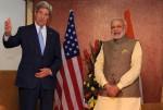 The Prime Minister, Narendra Modi meeting the US Secretary of State, John Kerry, in Gandhinagar, Gujarat on January 11, 2015.