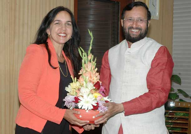 Minister of State for Environment, Forest and Climate Change (Independent Charge), Shri Prakash Javadekar meeting the Australian Senator, Ms. Lisa Singh