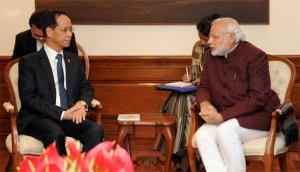 Vice President of Myanmar, Dr. Sai Mauk Kham calling on the Prime Ministeri Narendra Modi