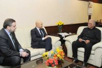 The Minister for Civil Aviation, Ashok Gajapathi Raju Pusapati meeting the Minister of State for Commerce, Spain, Jaime Garcia Legaz