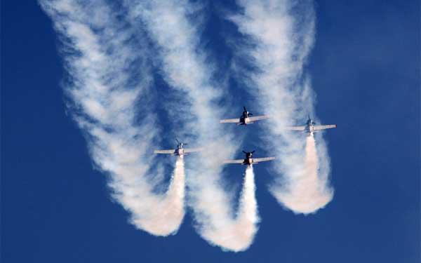 Glimpses of the Aero India-2015 Air Show, at Yelahanka Air Base, in Bangalore on February 18, 2015.