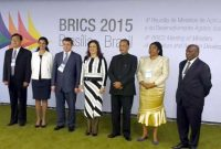 The Union Minister for Agriculture, Shri Radha Mohan Singh at the concluding session of the 4th BRICS Agriculture Ministers meeting