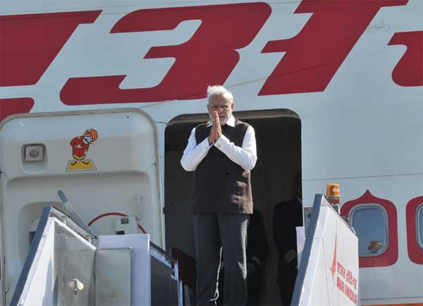 The Prime Minister, Narendra Modi departing for his three nation visit to France, Germany and Canada, in New Delhi on April 09, 2015.