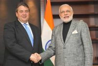 The Vice Chancellor and Minister of Economics & Energy of Germany, Sigmar Gabriel meeting the Prime Minister, Narendra Modi