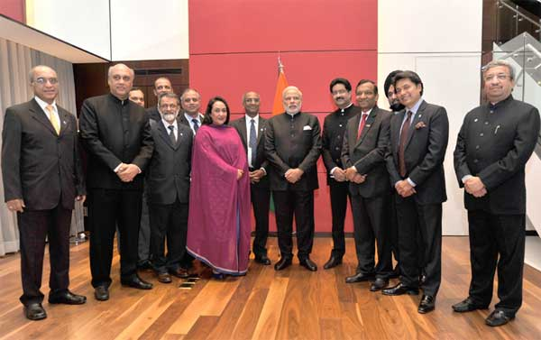 The Prime Minister, Narendra Modi meets CEOs, in Seoul, South Korea on May 18, 2015.
