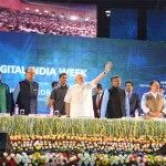 The Prime Minister, Narendra Modi at the launching ceremony of Digital India Week, in New Delhi on July 01, 2015.