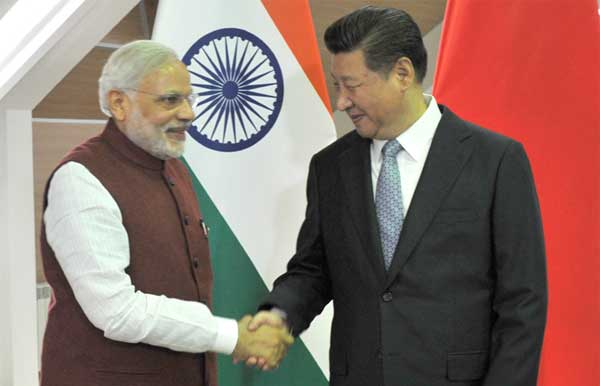 The Prime Minister, Narendra Modi meeting the President of the People's Republic of China, Xi Jinping, in Ufa, Russia on July 08, 2015.