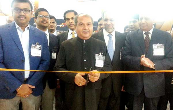 The Union Minister for Mines and Steel, Narendra Singh Tomar inaugurating the Indian pavilion at AIMEX-2015, in Sydney, Australia on September 01, 2015.