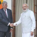 The Prime Minister, Narendra Modi meeting the Prime Minister of the Democratic Socialist Republic of Sri Lanka, Ranil Wickremesinghe, at Hyderabad House, in New Delhi on September 15, 2015.