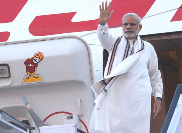 Prime Minister, Narendra Modi departing from New Delhi for his visit to Ireland and United States of America (USA) on September 23, 2015.