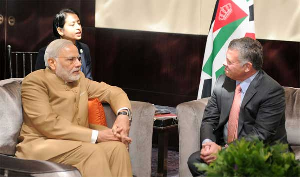 The Prime Minister, Narendra Modi meeting the King of the Hashemite Kingdom of Jordan, H.M. King Abdullah II, in New York on September 25, 2015.
