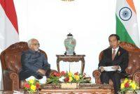 Vice President, Mohd. Hamid Ansari calling on the President of Indonesia, Joko Widodo, in Jakarta, Indonesia