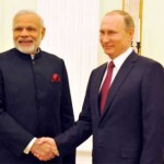 The Prime Minister, Narendra Modi with the President of Russian Federation, Vladimir Putin in a private tete-a-tete, at Moscow, in Russia on December 23, 2015.