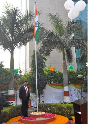 Sri U.P. Singh, Additional Secretary (E), MoPNG and Chairman & Managing Director, Oil India Limited hoisted the National Flag amidst singing of the National Anthem and subsequently addressed the gathering of OIL personnel, including the Functional Directors and the Chief Vigilance Officer, at the 67th Republic Day celebrations in Oil India Limited's Corporate Office in NOIDA.