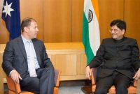 MoS (IC) for Power, Coal and New and Renewable Energy, Piyush Goyal meeting the Australian Energy & Resources Minister, Josh Frydenberg