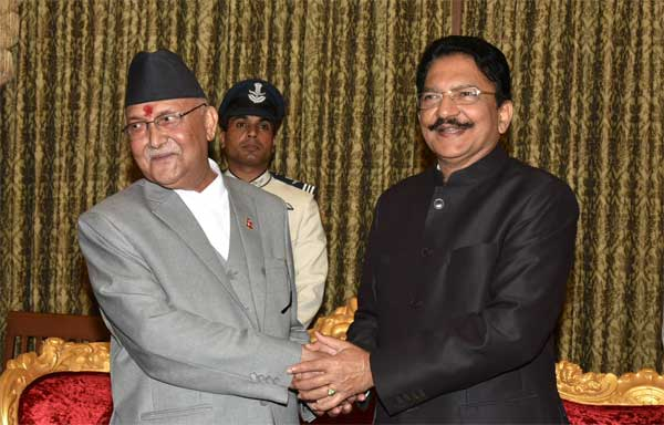 Nepalese PM meets Maharashtra Governor