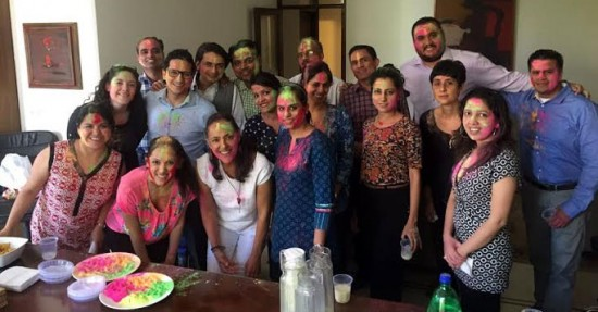 """Festival of colors """"Holi"""" celebrated at the Embassy of Mexico in New Delhi, India"""