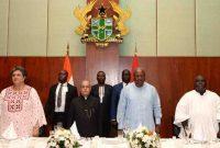 President Muhkerjee arrives in Ghana