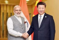 Prime Minister, Narendra Modi in a bilateral meeting with the President of the People's Republic of China, Xi Jinping