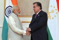 Prime Minister, Narendra Modi in a bilateral meeting with the President of the Republic of Tajikistan, Emomali Rahmon
