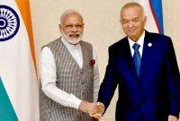 Prime Minister, Narendra Modi in a bilateral meeting with the President of the Republic of Uzbekistan, Islam Karimov,