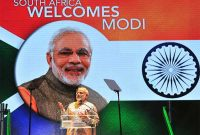 Prime Minister, Narendra Modi delivering his address to the community, in Johannesburg, South Africa on July 08, 2016.