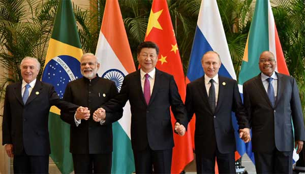 Prime Minister, Narendra Modi with other BRICS leaders in a family photograph, in Hangzhou, China on September 04, 2016.