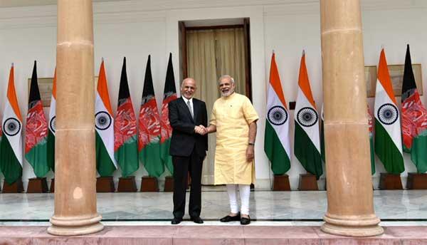 The Prime Minister, Narendra Modi with the President of Afghanistan, Dr. Mohammad Ashraf Ghani, Hyderabad House, in New Delhi on September 14, 2016.
