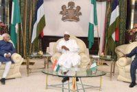 Vice President, M. Hamid Ansari calling on the President of Nigeria, Muhammadu Buhari at the State House