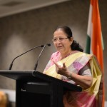 ​Lok Sabha Speaker Smt. Sumitra Mahajan, who is leading an Indian Parliamentary Delegation to New Zealand, at a programme organized by Mr. Mahesh Bindra, MP and Co-Chair of New Zealand Parliamentary Friendship Group for India